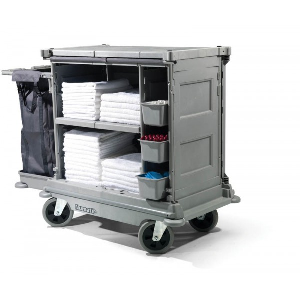 Chariot hotelier numatic nkl16 ff avec toile occultante for Materiel hotelier professionnel