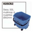 Seau 30L multimop à roulettes Ø50mm - NUMATIC