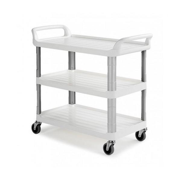 chariots de service silver 3 plateaux toutotop 39 mat riel de nettoyage produit d 39 entretien. Black Bedroom Furniture Sets. Home Design Ideas